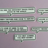 The Maze Runner quotes speech bubble stickers