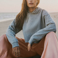 Out From Under Cropped Hoodie Sweatshirt   Urban Outfitters