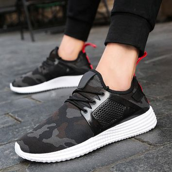 Fashion Men's Straps Sports Running Sneakers Camouflage Shoes