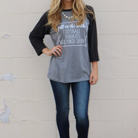 fall in the south baseball tee-vintage black