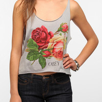 OBEY Bed Of Roses Cropped Tank Top