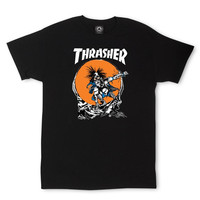 Thrasher Outlaw T-Shirt By Pushead In Black