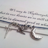 Nightingales: Fact or Fiction, Skyrim Nightingale Thieves inspired friendship bracelet on Waxed cotton cord
