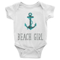 Beach Girl Infant short sleeve Onesuit