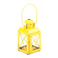 Mini Crisscross Candle Lamp Yellow