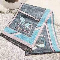 Hermes New fashion letter horse print scarf women
