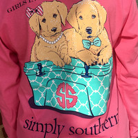 Simply Southern Girls In Pearls & Guys In Ties YOUTH Tee - Pink