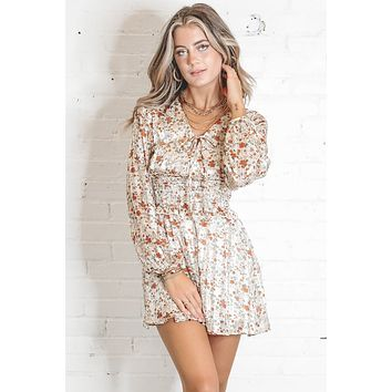 Wild Flower Ivory Ruffle Dress