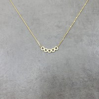 Circles Series Gold Necklace