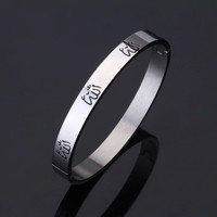 New Vintage Muslim Allah Jewelry Cuff Bracelets & Bangles For Women / Men Titanium Stainless Steel Fashion Jewelry Gift GH332