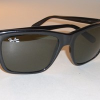 B&L VINTAGE RAY BAN W1486 SHINY BLACK NYLON POLARIZED CATS 3000 SKI SUNGLASSES