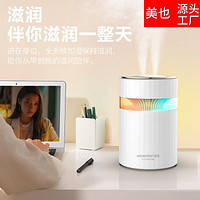 Dual Nozzle Humidifier Mute Office Bedroom Colorful Lights Usb Large Capacity Household Air Humidifier