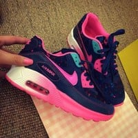 Tagre™ ONETOW Best Online Sale Nike Air Max 90 Pink Purple Gradient Gradient Rose Running Shoes Sport Shoes