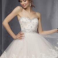 Sticks & Stones by Mori Lee 9278 Short Lace Ball Gown