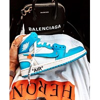 NIKE AIR JORDAN 1 x OFF-WHITE Joint high-top men's and women's sports shoes 1