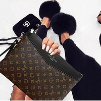 Louis Vuitton LV Fashion New Popular Monogram Leather Office Bag Zipper Women Men Wallet Purse Handbag