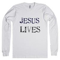 Jesus Lives-Unisex White T-Shirt