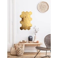 10pcs Hexagon Mirror Surface Wall Sticker