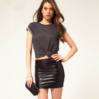 Elegant Leather Skirt