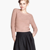 H&M - Knit Sweater - Dusty pink - Ladies