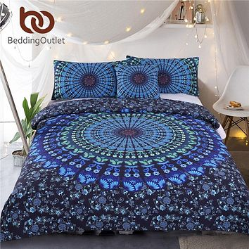 Bohemian Mandala Bedding 3 Pcs Set