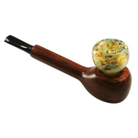 Wood and Glass Hybrid Pipe H4