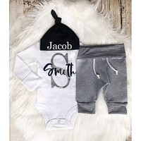 Baby Boy First & Last Name Personalized Outfit