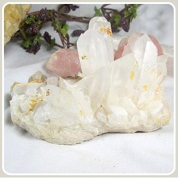 """Amplifying"" Clear Quartz Point Cluster"