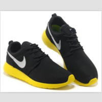 NIKE fashion network sports shoes casual shoes Black and yellow