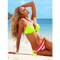 Zicac New 2 Pcs Push Up Padded Sexy Swimwear SEXY Women Girls Bikini Swimsuit