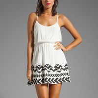 Lucca Couture Tank Dress with Bottom Hem Detail in White from REVOLVEclothing.com
