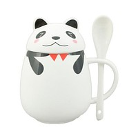 Ceramic Panda Cup with Lid
