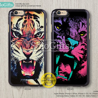 iPhone 6 case, iPhone 6 Plus case, Tiger face Galaxy, iPhone case, iPhone 5 case, iPhone 5S Case, Galaxy S5 S4 S3 Note 2 Note 3, A0244