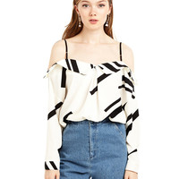 Color Block Strappy Blouse