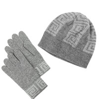 Versace Beanie and Gloves Set