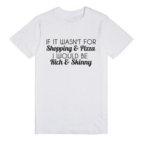 shopping and pizza