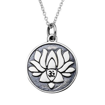 Lotus Pendant 925 Silver Necklace