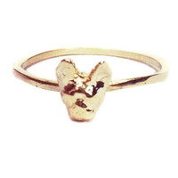 verameat | hi i'm tiny french ring in brass and silver