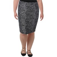 Tommy Hilfiger Womens Tweed Textured Pencil Skirt