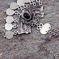 Free People Ebony Curve and Coin Pendant