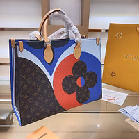LV new women's shopping bag handbag tote bag messenger bag