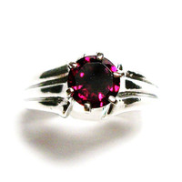 "Garnet, garnet  ring, anniversary ring, engagement, mom ladies, cranberry rose ring,  s 6 3/4  ""Cranberry Rose"""