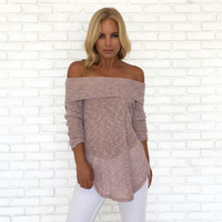 Pastel Knit Sweater Top In Pink