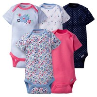 Baby Girls' 5 Pack Onesuit® Butterfly - Gerber® : Target