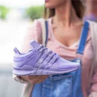 "Fashion ""Adidas"" Women Trending EQT Running Sports Shoes Purple"