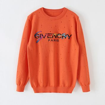 Givenchy Fashion casual loose turtleneck  Fall Winter Fashion Long Sleeve Pullover