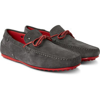 Tod's - + Ferrari City Gommino Suede Driving Shoes | MR PORTER