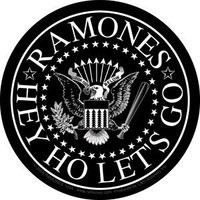 The Ramones Punk Rock Music Band Sticker - Hey Ho Let's Go/Black and White
