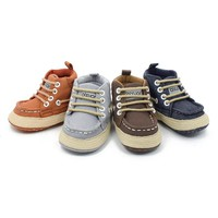 Kids baby shoes Toddler Girls Boys Lace up Crib Shoes Prewalker Soft Sole Sneakers Kids girls shoes