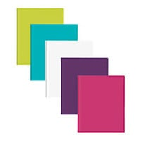 Office Depot Brand 2 Pocket Poly Fashion Portfolios 3 Fasteners 8 12 x 11 Assorted Colors Pack Of 5 by Office Depot & OfficeMax
